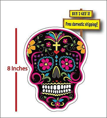 Dia De Los Muertos Day of the Dead Mexican Sugar Skull Car Decal Sticker DOD41