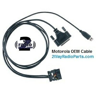 REAL OEM Motorola MotoTRBO XPR5350 XPR5550 Program / Test Cable USB PMKN4016 A B