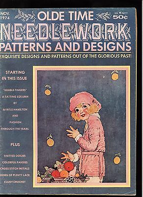 Vintage OLDE TIME NEEDLEWORK Patterns & Designs Oct/Nov 1974 Magazine SCARCE