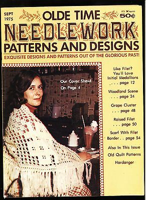 Vintage OLDE TIME NEEDLEWORK Patterns & Designs Aug/Sept 1975 Magazine SCARCE