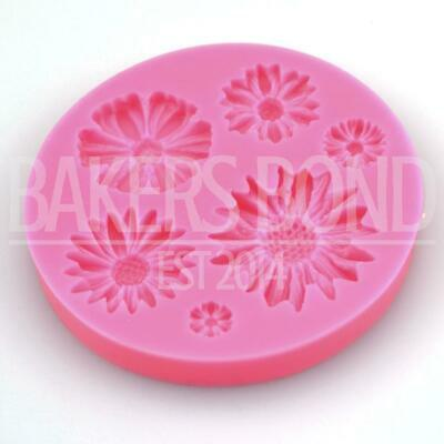 Cute 6 Flower Silicone Mould Chocolate Cake Baking Icing Wedding Romantic Daisy