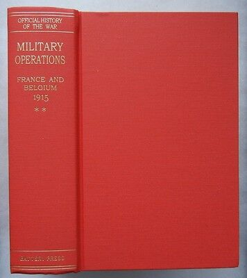 MILITARY OPERATIONS FRANCE & BELGIUM 1915 Vol.2 - WW1 BRITISH ARMY HISTORY BOOK