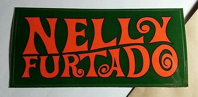 Nelly Furtado Come Hear Whoa Nelly Green Orange Promo Music Sticker