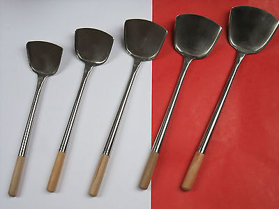 Professional Chinese traditional Wok turner many size restaurant ladle utensils