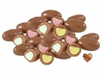 CLANGERS 1KG chocolate lollies with yellow pink green centres candy milk choc