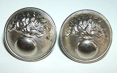 LOT DE 2 BOUTONS ARGENTES GENDARMERIE - 21 mm - Fabrication Albert Fils Paris