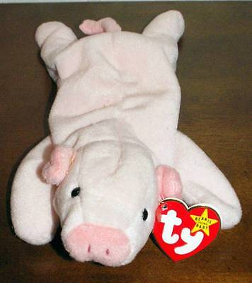 TY Original Beanie Baby Babies 4-23-1993 SQUEALER Pig Retired MWMT Mint w/tags