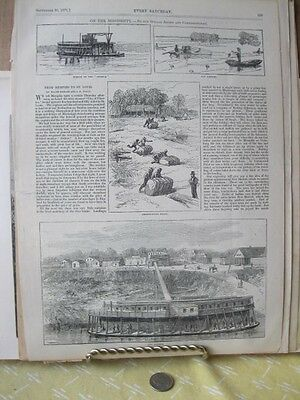 Vintage Print,ON THE MISSISSIPPI,Every Saturday,Sept 1871