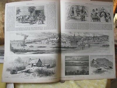 Vintage Print,ON THE MISSISSIPPI,Every Saturday,August 1871