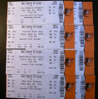 Baltimore Orioles 2013 MLB ticket stubs - One ticket