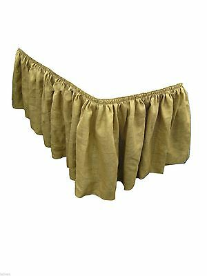 2 Burlap Table Skirts 21ft Skirting 100% Jute 21' Vintage Wedding For 8 ft Table