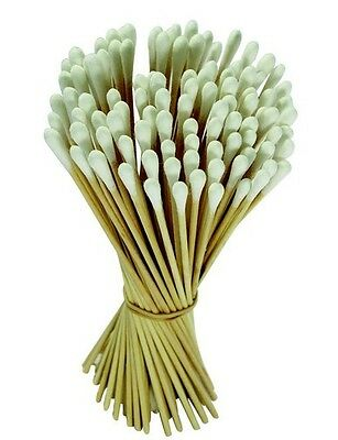 """100pc Cotton Swabs Swab Q-tips 6"""" Long Wood Wooden Handle Cleaning Applicators"""