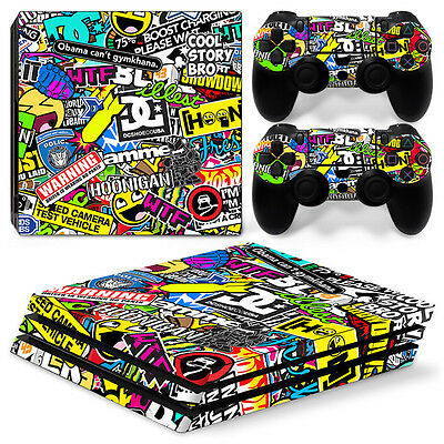 Playstation 4 PS4 Pro Skin Vinyl Design Folie Aufkleber Schutz Sticker HOONIGAN