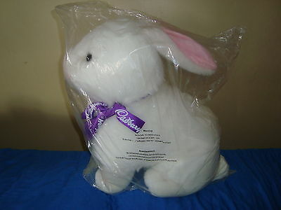 "Cadbury Easter Bunny Clucking noises Large Plush 22"" tall x 18"" long"