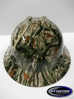 (Boneyard Legends Camo) New Custom MSA VGard Full Brim Hydro Dipped Hard Hat