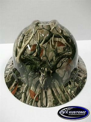 New Custom MSA VGard Full Brim Hydro Dipped Hard Hat  (Boneyard Legends Camo)