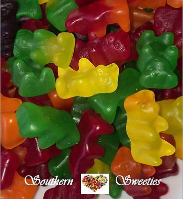 1Kg Gummy Teddy Bears Yellow Red Green Orange Purple Mix Lollies Gummies Candy