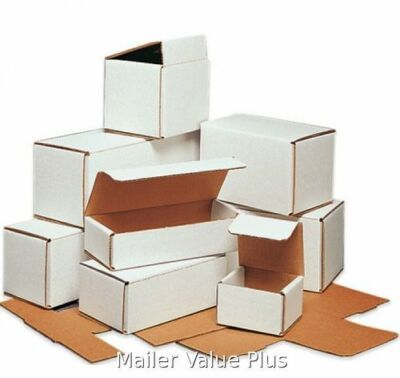 100 - 6 x 4 x 1 White Corrugated Shipping Mailer Packing Box Boxes