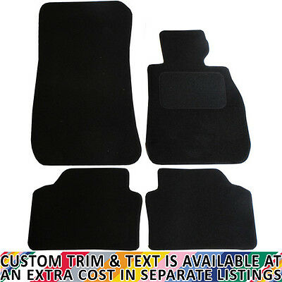 BMW E90/91 3 Series 2005-2012 Fully Tailored 4 Piece Car Mat Set Velcro Fixings