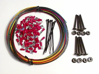 MAME WIRE KIT BOLTS Arcade Game Crimps control panel push button joystick happ
