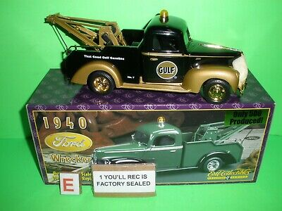 1999 Gulf #7 1940 Ford Tow Truck Wrecker Gold Sampler Sample Ed 1 Of 500 Ertl