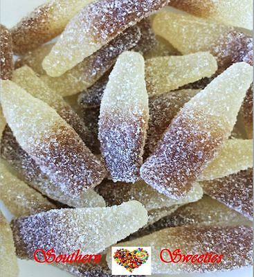 2Kg Sour Cola Bottles Brown & White Lollies Candy Gluten Free