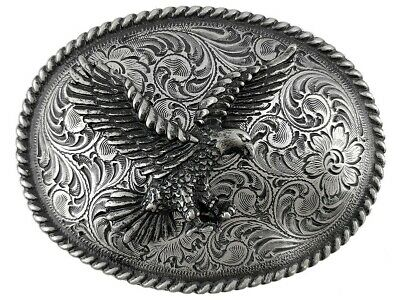 American Bald Eagle Western Belt Buckle
