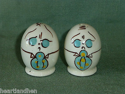 Gayet California Humpty Dumpty Egg Salt and Pepper Shakers