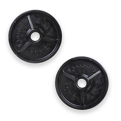 BodyRip OLYMPIC WEIGHT PLATES 2 x 10kg DISC WEIGHTS EXERCISE GYM TRAIN FITNESS