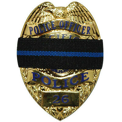 **LOT OF 3** Thin Blue Line Mourning Band Memorial Badge Cover