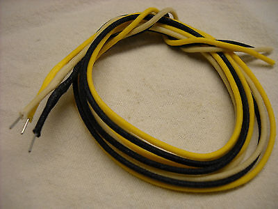 6' of  Solid 22 awg Cloth Covered Wire Yellow Black White for Guitar & Amps