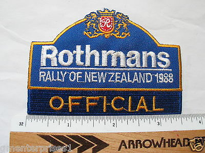 Rothmans Rally New Zealand Official 1988 Patch (#561)