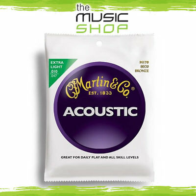 Martin 80/20 Bronze Acoustic Guitar Strings 10-47 Extra Light - M170