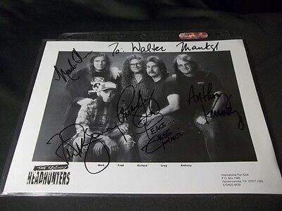 THE KENTUCKY HEADHUNTERS Signed BY 5 AUTOGRAPHED 8X10 PHOTO COUNTRY MUSIC BAND
