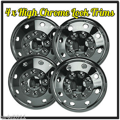 "VW Volkswagen LT 15"" Chrome Wheel Trims- American Style - Hub Caps - SET OF 4"