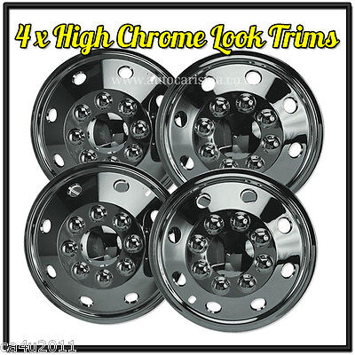 "Ford Transit 15"" Chrome Wheel Trims Van American Style Hub Caps Deep Dish Qty 4"