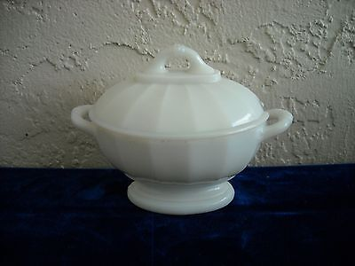 Vintage Children's Toy Covered Tureen  Milk Glass