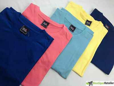 Men's Plain T Shirt 100% COTTON Loose Baggy Fit Blank Tee Top Basic T-Shirt