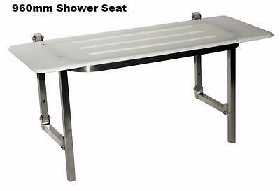 Shower Seat Folding Stainless Steel, Plastic, Disability Bathroom Wheelchair