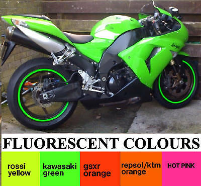 WHEEL RIM STICKER DAYGLO FLUORESCENT TAPE DECAL STRIPES,high visibility rim tape