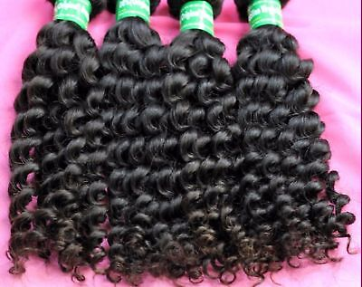 """100% 10A Virgin Human Deep Curly Hair Weave EXTENSION 300g 12"""" - 28"""" 3 pieces"""