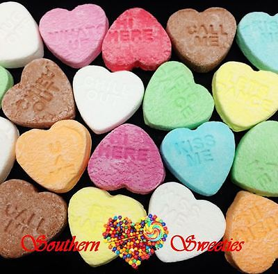 Conversation Hearts 1Kg Candy Buffet Lollies Pink White Blue Green Yellow Purple