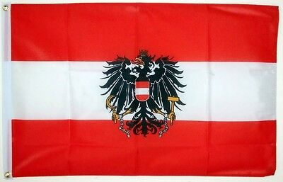 Austria with eagle Flag EMBROIDERED PATCH 8x6cm Badge