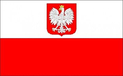 POLAND WITH EAGLE LARGE FLAG 8 X 5 FEET flags POLISH WARSAW