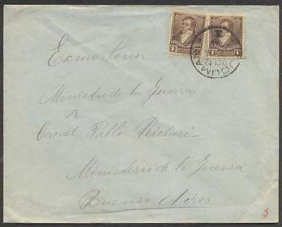 Argentina Internal Cover 1900 w 2 Stamps Tucuman Cancel L@@K