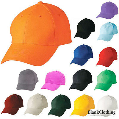 Adult Plain Cotton Baseball Caps / Golf Hats / Outdoor Sport Hats 14 Colours