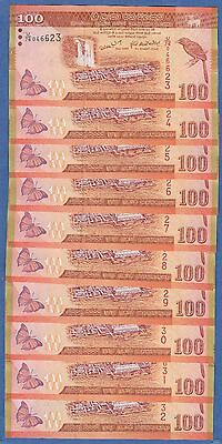10 notes ! Sri Lanka 10 P 115 2006 UNC Dealers Lot Low Shipping Combine FREE!