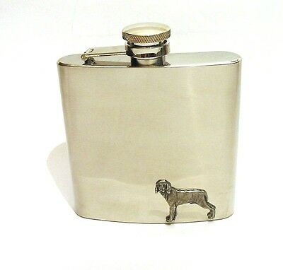 Weimaraner Dog Stainless 6oz Hip Flask Vet Kennels Mum Dad Gift NEW Boxed