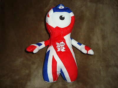 "London 2012 Wenlock Olympic Mascot Union Flag 10"" W/Tags"