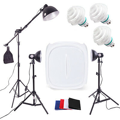 Photography Studio Lighting 60cm 3 Light Tent Kit  - Cube Photo Soft Box Product